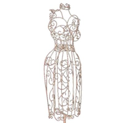 ivory wire dress form