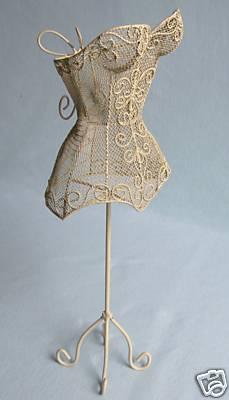 ivory mini corset form